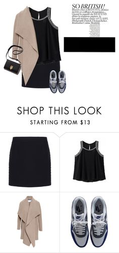 """""""Style it down"""" by crazyaboutthings ❤ liked on Polyvore featuring Balenciaga, Harris Wharf London, NIKE, women's clothing, women's fashion, women, female, woman, misses and juniors"""