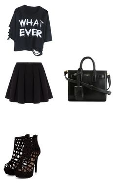 """""""Just for boys when they say something stupid."""" by hailey-chitwood ❤ liked on Polyvore featuring Polo Ralph Lauren and Yves Saint Laurent"""