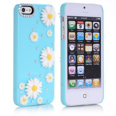 IPhone 6 Plus Beautiful Flowers Diamond-studded Hard Case Bling iPhone 6 Plus Cases for iPhone 6