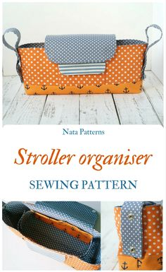 Stroller organizer sewing pattern, tutorial pram caddy / Органайзер для коляски, выкройка, мастер-класс