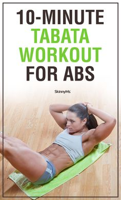 10-Minute Tabata Workout for Abs | ab workout | workouts for women | www.skinnyms.com