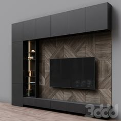 Tv Feature Wall, Feature Wall Living Room, Living Room Wall Units, Living Room Designs, Living Rooms, Tv Cabinet Design, Tv Wall Design, Tv Unit Design, Modern Tv Room