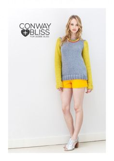Conway + Bliss - 'Aimee' Cabled-raglan Pullover from  by Debbie Bliss at KnittingFever.com