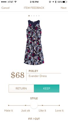 Pixley Evander Dress. I love Stitch Fix! A personalized styling service and it's amazing!! Simply fill out a style profile with sizing and preferences. Then your very own stylist selects 5 pieces to send to you to try out at home. Keep what you love and return what you don't. Only a $20 fee which is also applied to anything you keep. Plus, if you keep all 5 pieces you get 25% off! Free shipping both ways. Schedule your first fix using the link below! #stitchfix @stitchfix. Stitchfix Spring…