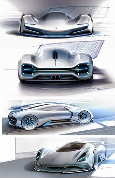 Porsche Electric Le Mans 2035 Concept Design Sketches by Gilsung Park