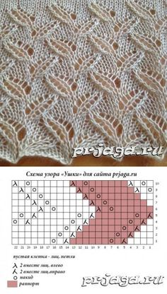 Most current Absolutely Free knitting stitches leaves Suggestions 05 – Ажур. Lace Knitting Stitches, Lace Knitting Patterns, Knitting Charts, Lace Patterns, Knitting Yarn, Stitch Patterns, Knitting Needles, Afghan Patterns, Knitting Videos