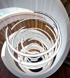 Luum is a contemporary lighting studio dedicated to the design, manufacture and delivery of spectacular light installations. The studio is founded on the shared vision and experience of Andrew Watson, director at Heathfield Custom Lighting, Modern Lighting, Lighting Design, Contemporary Stairs, Contemporary Home Decor, Contemporary Wallpaper, Contemporary Apartment, Contemporary Architecture, Ceiling Light Inspiration