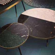 side tables two-tone tables living room tables coffee table coffee tables side tables …, … - Marble Table Modern Square Coffee Table, Black Marble Coffee Table, Coffe Table, Geometric Furniture, Furniture Design, Two Tone Table, Tea Table Design, Teen Room Decor, Living Room