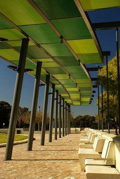 larameeee:  JacarandaSq_HERO_canopy_seats_Kyal-Sheehan «Landscape Architecture Works | Landezine Landscape Architecture Works | Landezine