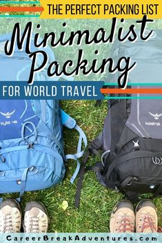 What is minimalist travel? How can you do minimalist travel? Read minimalist travel packaging pointers and methods to begin. Backpacking Packing List, Packing For Europe, Packing Tips For Vacation, Travel Packing, Travel Hacks, Travel Tips, Suitcase Packing, Travel Destinations, Vacation Travel
