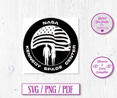 Kennedy Space Center Digital Download Decal by JumbleinkDesign on Etsy Kennedy Space Center, Decals, Cricut, Digital, Etsy, Tags, Sticker, Decal, Create A Critter