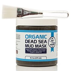 Dead Sea Mud Mask With Free Face Brush  HUGE 93oz Facials and Moisture Body Mask  Clears Acne  AntiAging Mask  Exfoliate Your Skins Pores  Natural Moisturize  All Natural  No Artificial Preservatives  Organic  Aloe Vera Juice  Jojoba Oil  Sunflower Oil  Hickory Bark Extract  Calendula Oil  Shea Butter ** You can get more details by clicking on the image.