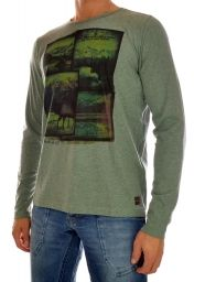 T-SHIRT LONGSLEEVE HEREN PTS38524 groen PME Legend