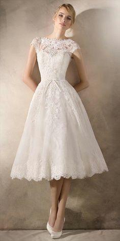 0f91b898e6c La Sposa 2017 Short Wedding Dress Boho Wedding Dress