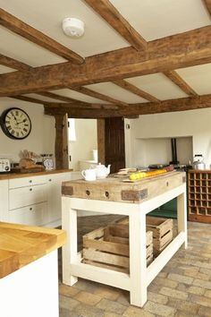 Can't wait to bake some homemade bread in this kitchen!  Looking forward to our walking holiday in England this May!  Cinnamon Cottage luxury self-catering cottage, Higher Ashton