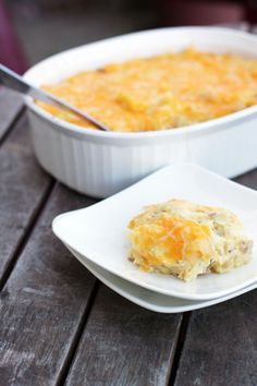 Twice Baked Potato Casserole  Easier than putting it in the potato skins