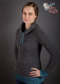 """My Favorite Pullover"" pattern for purchase, crocheted in Lion Brand Heartland. Can't wait to try this!"