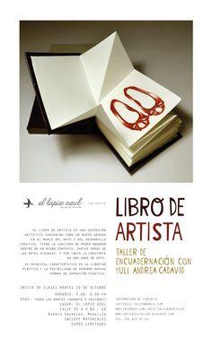 Taller  de encuadernación Libro de Artista, a cargo de Yuli Andrea Cadavid