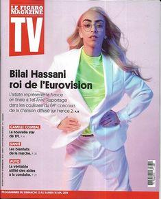 """TV MAGAZINE 12/05/2019 n°1684 Bilal Hassani/ Eurovision/ Camille Combal/ """"Manifest""""/ """"Clem""""/ Les bienfaits de la marche Eurovision, Bilal Hassani, Interview, Le Figaro, France 2, Magazine, Stars, Tv, Sterne"""