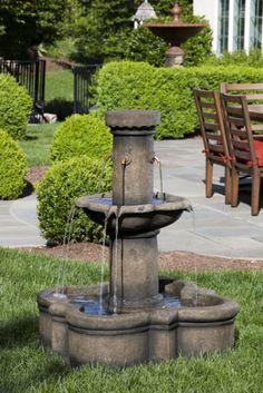 Alfresco Home Apollo Outdoor Fountain Garden Fountains, Outdoor Fountains, Water Fountains, Outdoor Lighting, Outdoor Decor, Outdoor Ideas, Backyard Plants, Water Features In The Garden, Garden Spaces