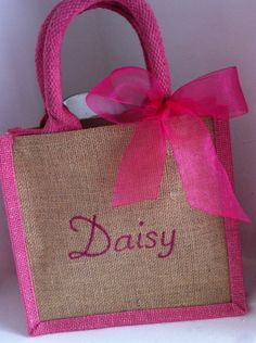 Personalised Birthday Gift Bag, Thank You, Princess Party Favour, Lunch Bag, Name on Tote, Pink present for Girls. Hen Party gift. by HarlieLoves on Etsy