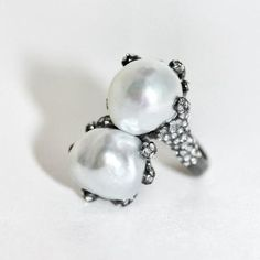 Shay Double Pearl Ring