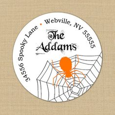 Spooky Spiderweb - Custom Address Labels or Stickers by PoshGirlBoutique