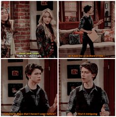 """Girl Meets World """"Girl Meets the Tell-Tale-Tot"""" - Maya and Josh Girl Meets World Josh, Boy Meets World Quotes, Boy Meets Girl, Cory And Shawn, Cory And Topanga, Disney Channel Shows, Disney Shows, Old Disney, Cute Disney"""