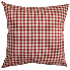 Bring a dose of modern appeal to your living space by tossing this plaid throw pillow. This two-toned accent pillow combines two classic shades, red and white. This square pillow brings a contemporary twist to your living room, bedroom or lounge area. You can easily combine this decor pillow into a wide range of decor styles. Made of 100% plush and soft cotton fabric. $55.00  #red #plaid #tosspillow #squarepillow