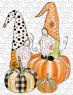 Halloween Pictures, Halloween Cards, Fall Halloween, Gnome Pictures, Halloween Clipart, Fall Crafts, Holiday Crafts, Gnome Paint, Autumn Painting