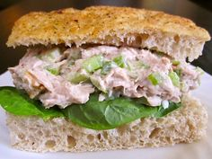 beth's best tuna salad - Budget Bytes. I usually HATE tuna salad......but it's cheap, and it's Friday, so I thought I'd give it a try. It's delicious!! Even without the walnuts. I might have to eat it on other days besides Fridays!