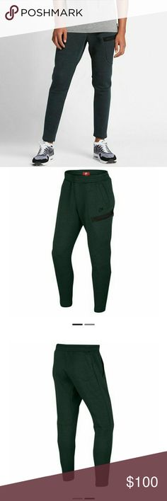 Nike Men's Tech Fleece Pants Online Description of Color: Seaweed/Heather/Black  Make an Offer Nike Pants