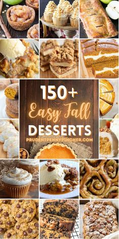 Try one of these delicious and easy fall desserts that are bursting with fall flavors like pumpkin, apple, cinnamon, maple, caramel and more! There are over a hundred fall baking recipes to choose from that are perfect for Thanksgiving, bake sales, and fall potlucks. Fall Dessert Recipes, Thanksgiving Desserts, Holiday Desserts, Just Desserts, Fall Recipes, Sweet Recipes, Holiday Recipes, Delicious Desserts, Bakery Dessert Recipe
