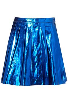 Celebrities who wear, use, or own Topshop Metallic Pleated Skirt. Also discover the movies, TV shows, and events associated with Topshop Metallic Pleated Skirt. Stage Outfits, Fashion Outfits, Girly Outfits, Work Outfits, Fashion Ideas, Fashion Trends, Real Leather Skirt, Leather Skirts, Leather Leggings