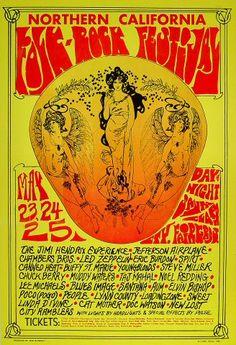 Vintage Retro Hippie Poster - Rock concert, Jimi Hendrix