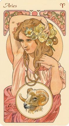 Art Nouveaux / Alponse Mucha style tarot cards