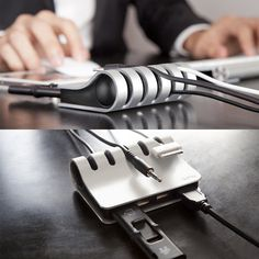 Cordies+ by Quirky. USB hub + cable organizer