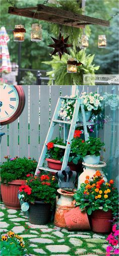 Gorgeous country farmhouse outdoor decor diy ideas for for Outdoor decorating hacks