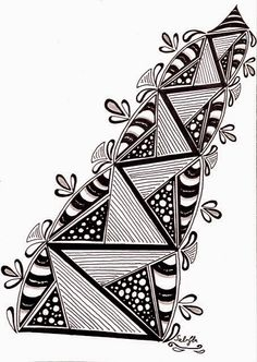 Lieschens-Bilder: Zentangle Challenge #184 Tangle Doodle, Tangle Art, Zen Doodle, Doodle Art, Zentangle Drawings, Doodles Zentangles, Doodle Drawings, Doodle Patterns, Zentangle Patterns
