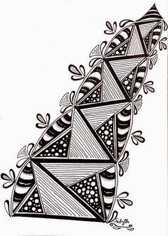 Lieschens-Bilder: Zentangle Challenge #184