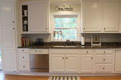Ten June: Kitchen Makeover Before & After #behr paint #cabinet makeover