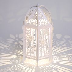 White Paper Butterfly Birdcage - Flutterby hanginglanterns.co.uk various colours