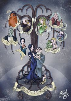 The Addams Family by Iluvendure