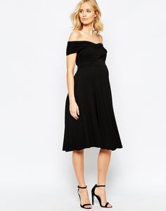 ASOS Maternity Skater Dress With Bardot Neckline. {I love this dress - elegant but so comfortable. It also works great for nursing}.