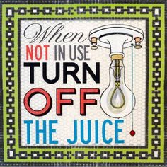 Oopsy Daisy - Turn Off The Juice Canvas Wall Art 14x14, Shelly Kennedy