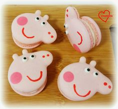 Loving Creations for You: Peppa Pig Macarons with Raspberry Swiss Meringue B...