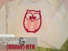 Fabric and (Glitter) HTV: Silhouette Tutorial ~ Silhouette School