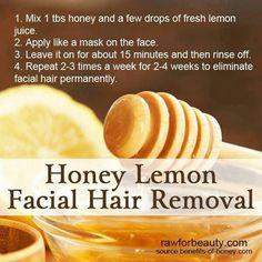 Honey Lemon Facial Hair Remover