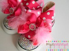 Cupcake Shoes Custom Chuck Taylors Detachable por MyaPapayaBoutique