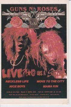 Guns N' Roses Live Like A Suicide EP Robert John photo 1986 Postcard